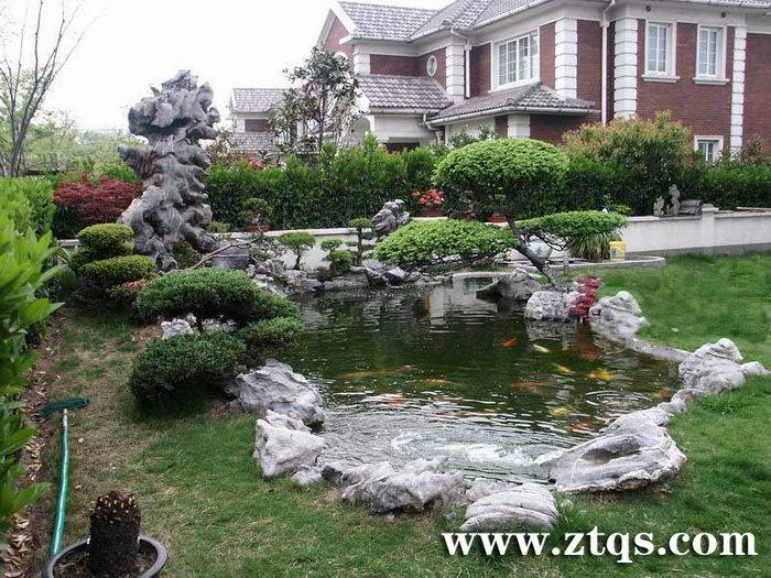 精美绝伦 别墅花园鱼池 - 承接园林工程|假山水景|塑
