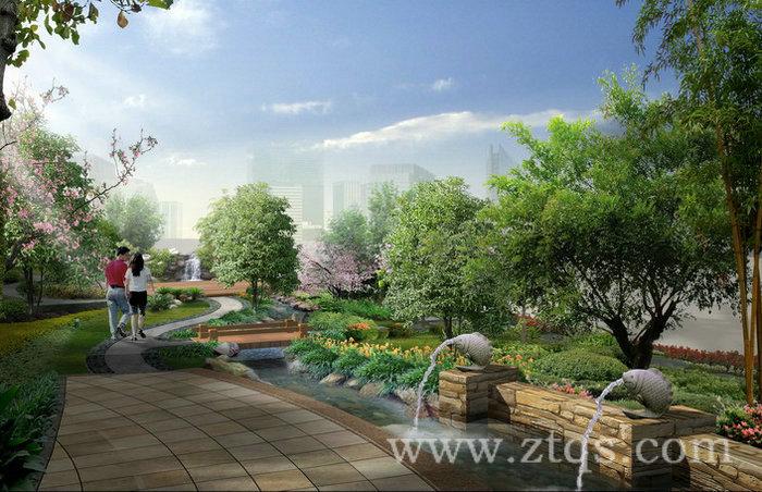 经典房地产效果图 图片素材 园林景观设计效果图psd素材