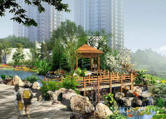 小区景观设计效果图_1 - 承接园林工程|假山水景|塑