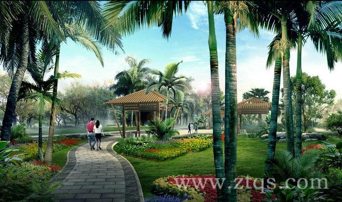公园园林设计效果图_3 - 承接园林工程|假山水景|塑