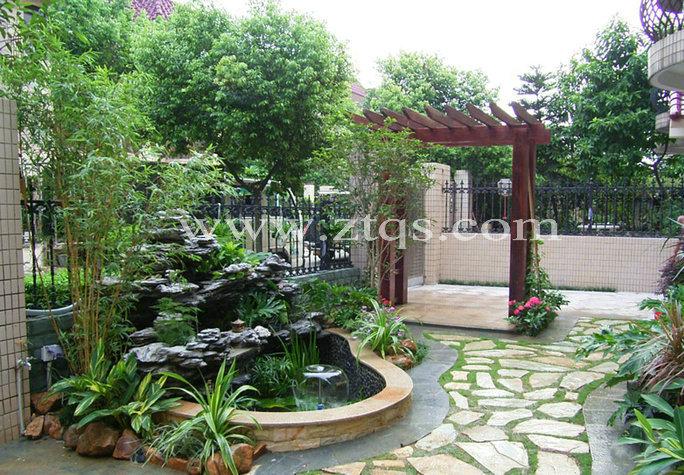 庭园小型假山水池